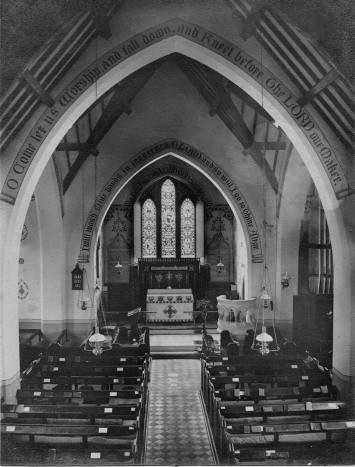 yardley wood church interior