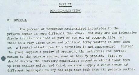 1977 denationalisation ridley report