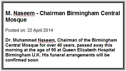 dr naseem obituary