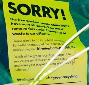 brum garden waste notice