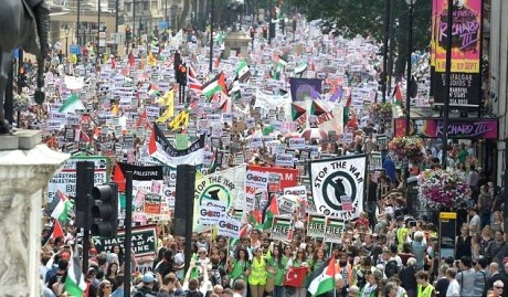 demo london israel