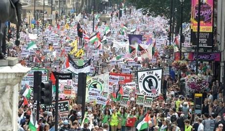 demo london israel