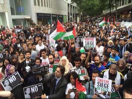gaza demo brum