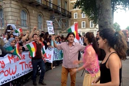 kurdish demo london yesterday