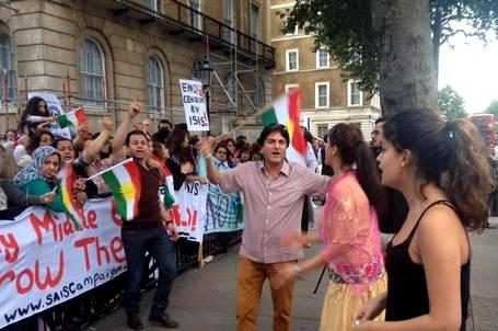 kurdish demo london yesterday