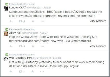 peace hub twitter