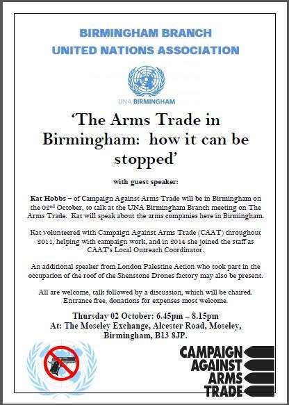 arms trade flyer