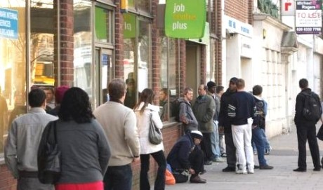 job centre queue brum