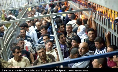 palestinian workers checkpoint