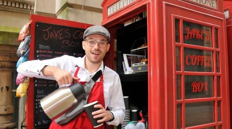 jake serving coffee