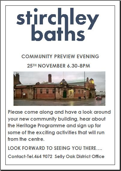 stirchley baths flyer