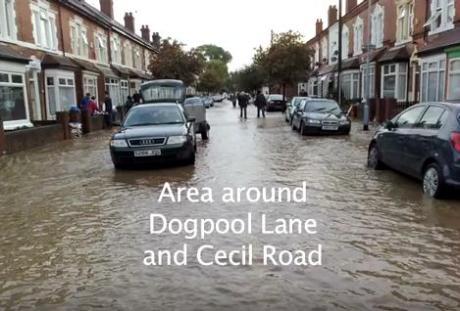 stirchley floods 08