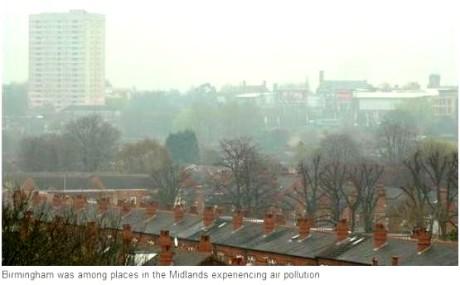 air pollution brum