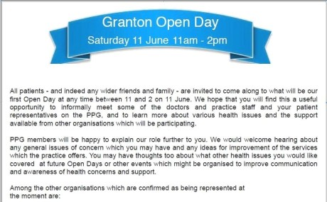 granton open day 1