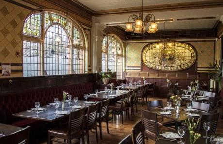 bartons arms dining room