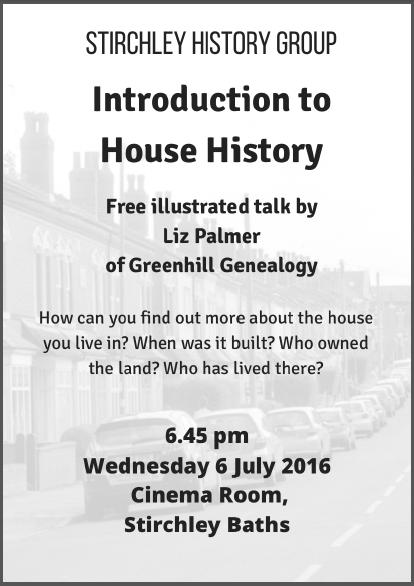 stirchley house history leaflet