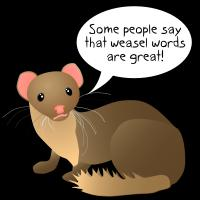 weasel words cartoon